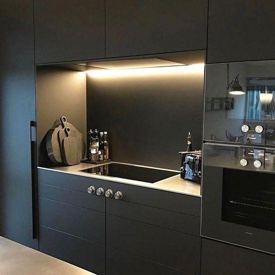 #blackkitchen #matblack #kitchenideas