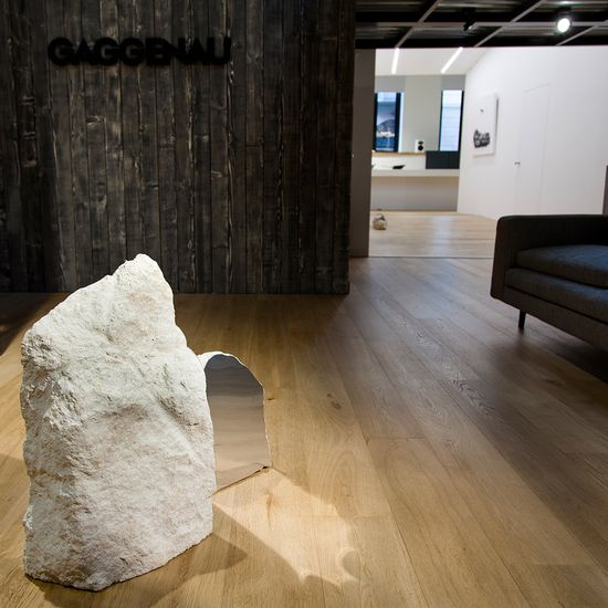 Ivan Barlafante's rocks and their contrasting polished steel interiors form part of the exhibition 'TERRIBLE – beauty is just the beginning' at the Gaggenau DesignElementi Hub in Milan. Curated by Sabino Maria Frassá ...