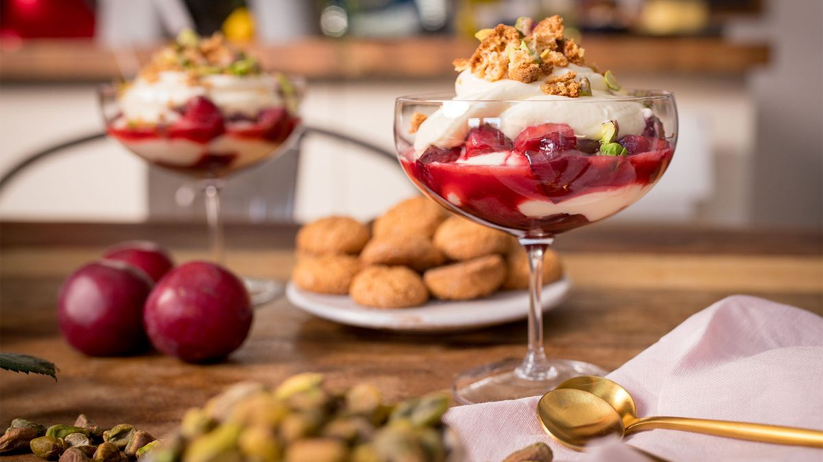 Roasted Plum Syllabub