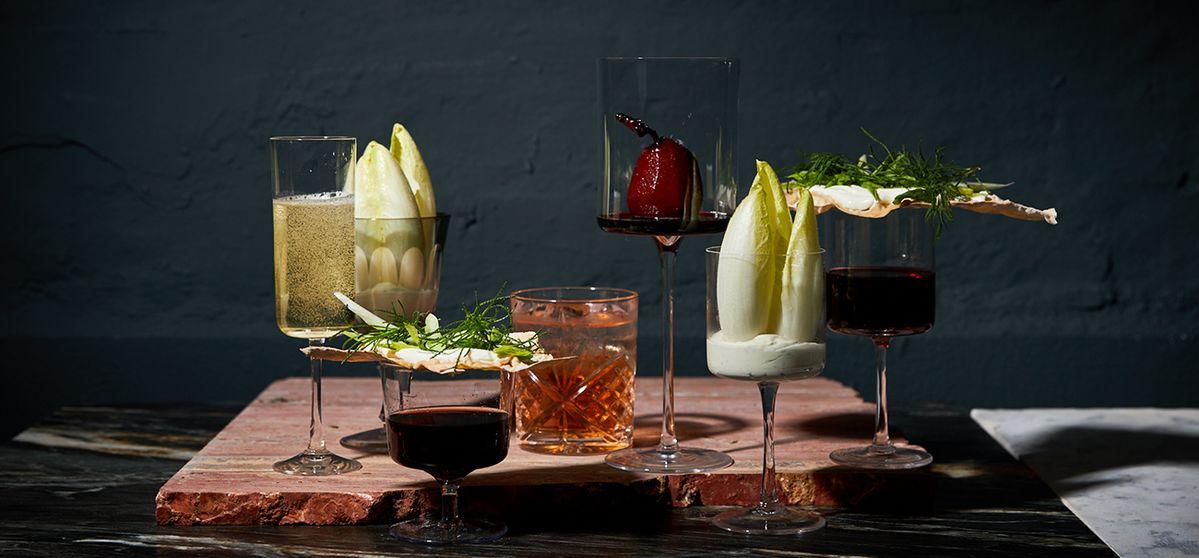 Drei-Gänge-Menü im Glas