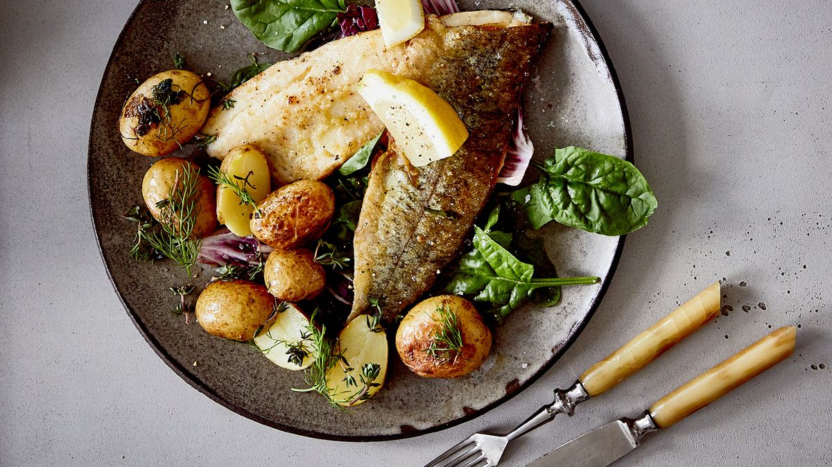 Trout with Young Potatoes and Spring Salad