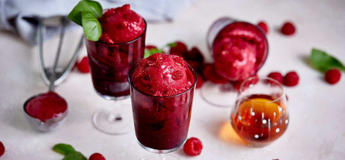 Raspberry Pastis Ice Cream
