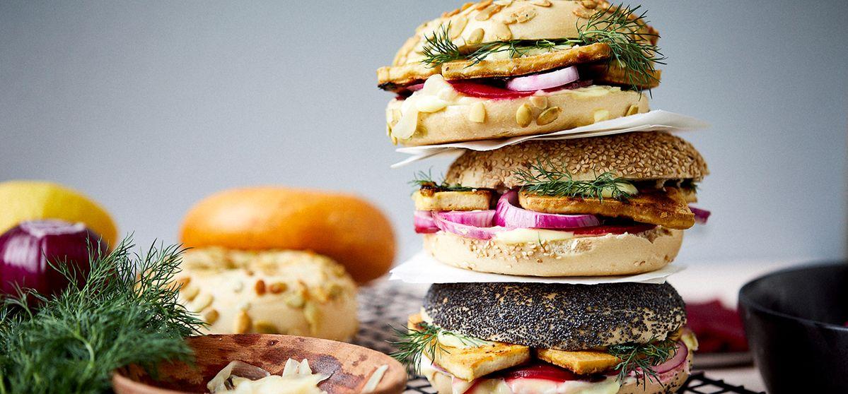 Recette: bagel au tofu au wasabi | NEFF