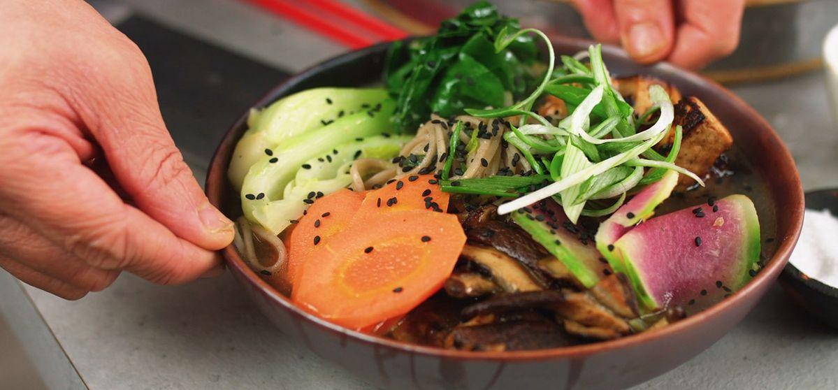 Vegan Soba Noodle Soup