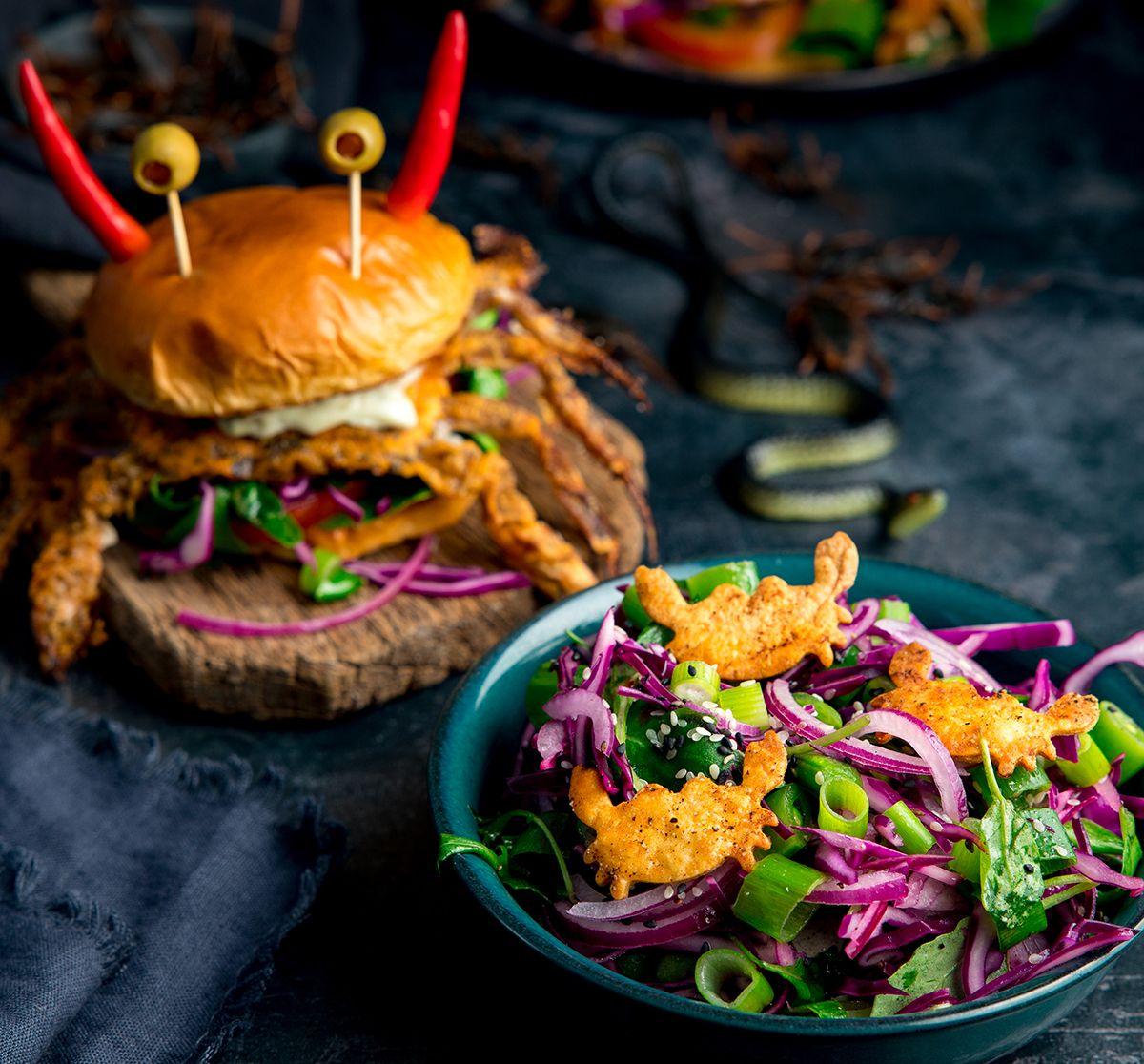 Creepy Crab Burgers