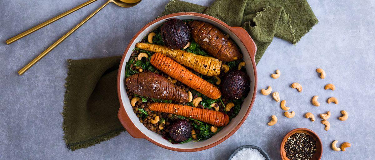 Miso Roast Vegetables with Lentils | NEFF UK