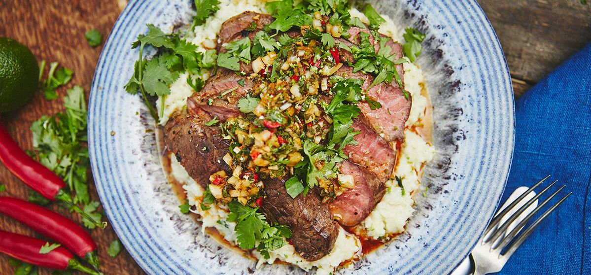 Roast Beef with Chimichurri Salsa