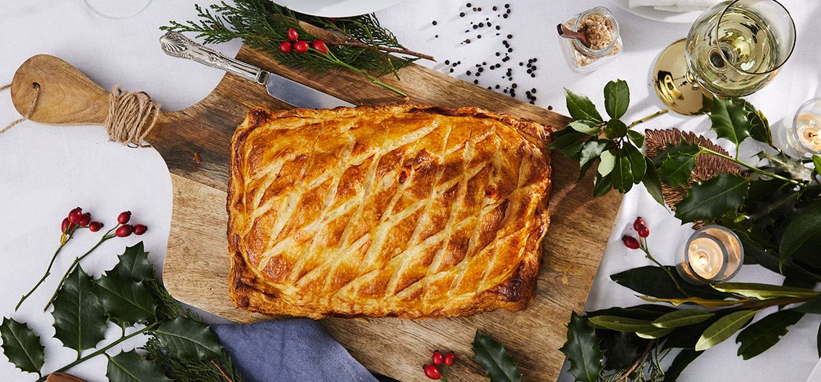 Salmon and Lobster Wellington