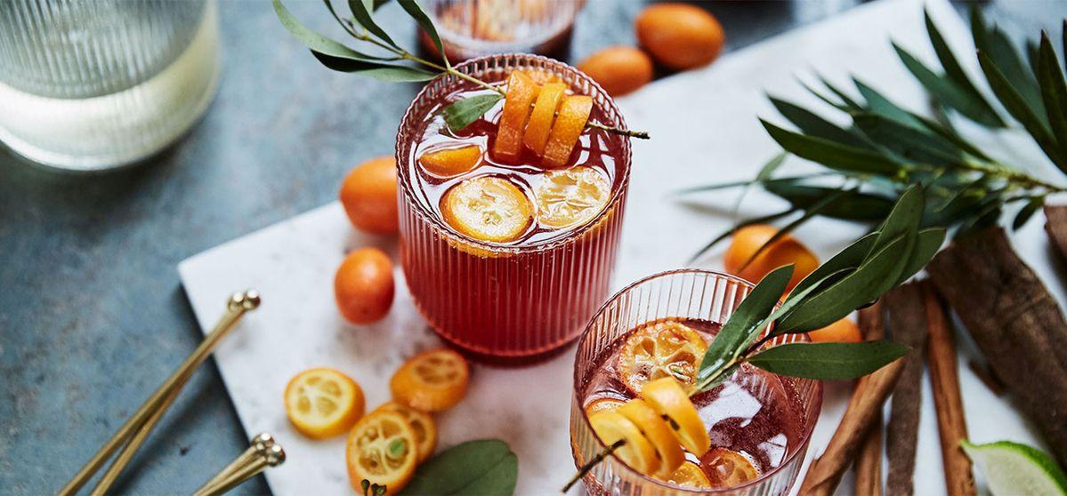Christmas Cocktail with Cumquats