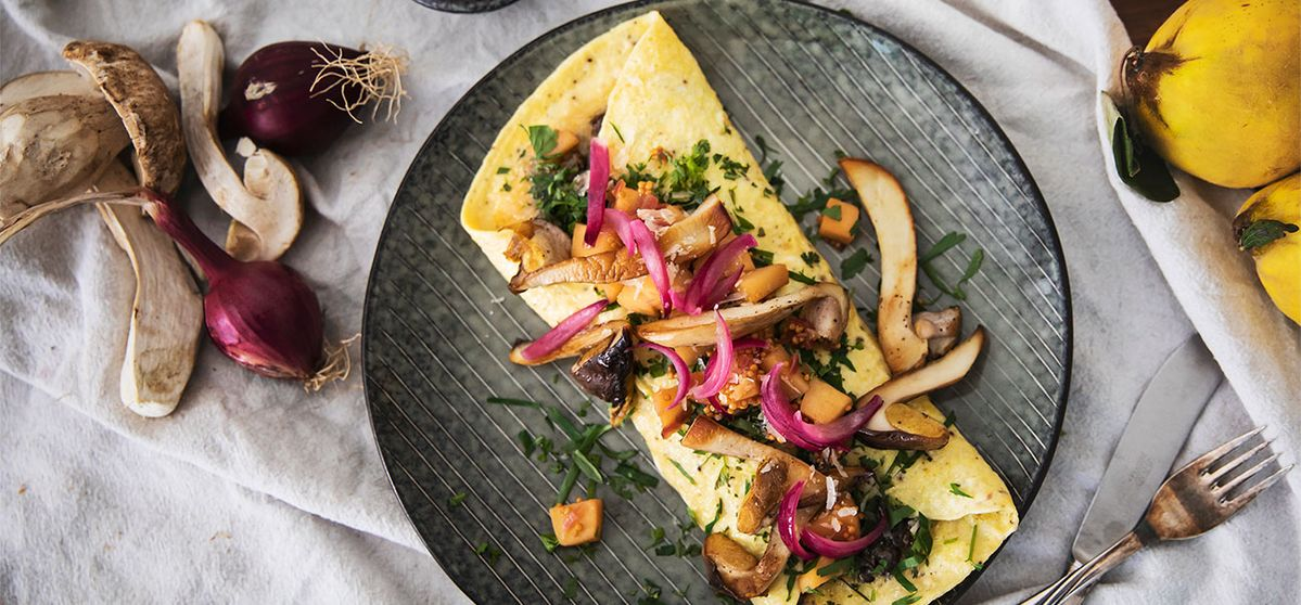 Omelett med Karljohansvamp