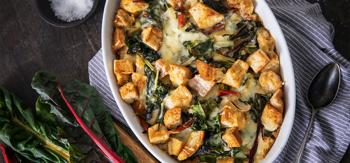 Swiss Chard and Gruyère Cheese Gratin