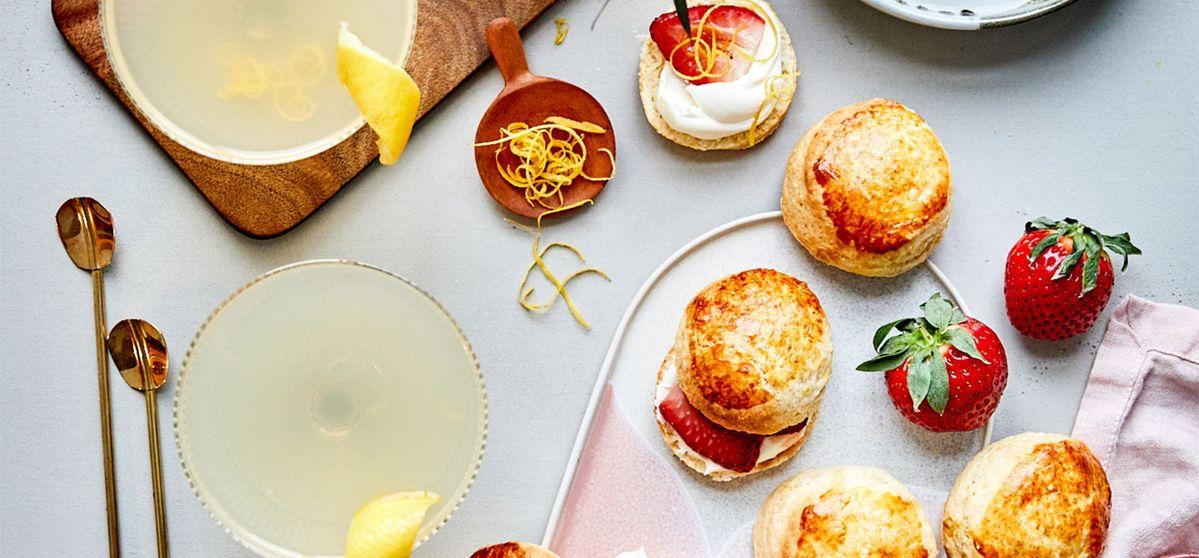 Earl Grey Mar-tea-ni and Mini Vanilla Scones