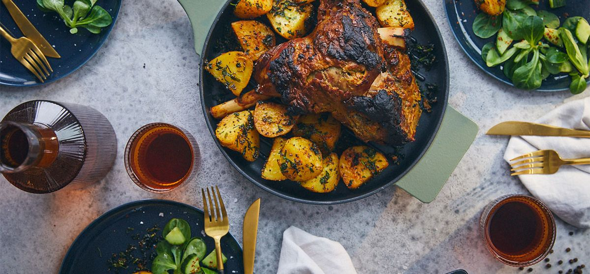 Indian Spiced Roast Lamb