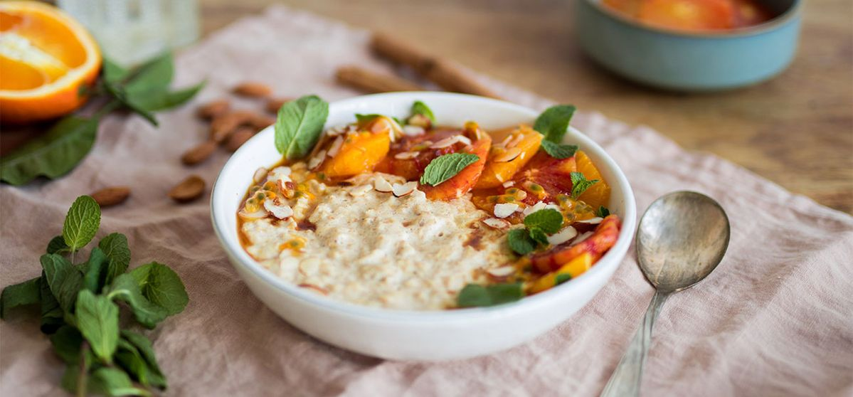 Cinnamon Porridge with Caramelized Oranges