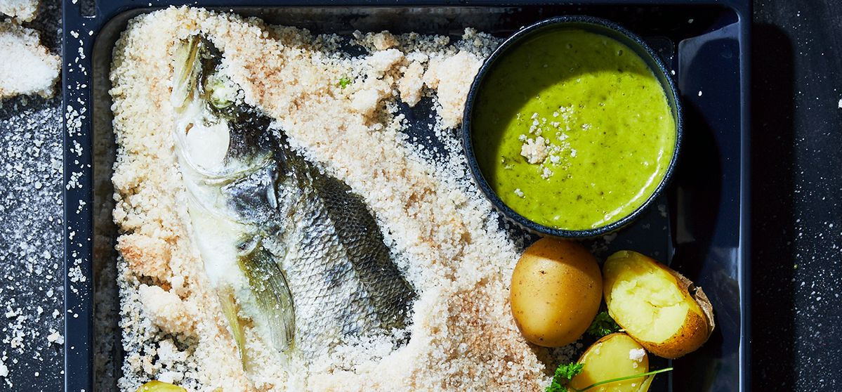 Pike-Perch with Algae-and-Lime Aioli