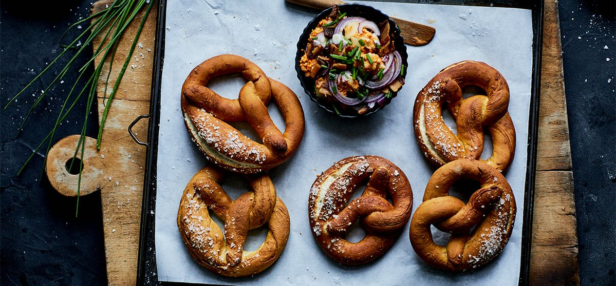 Recipe: Homemade Pretzels with Obazda