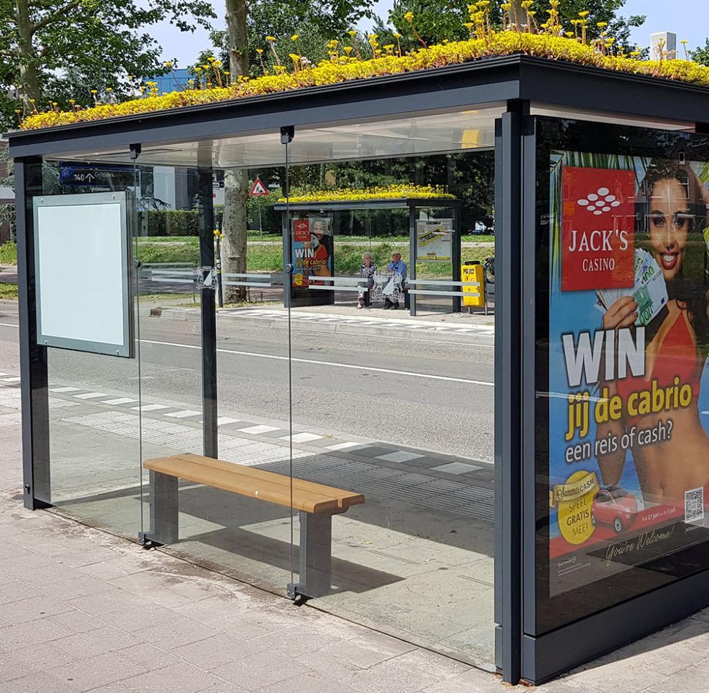 Utrecht: Dächer von Bushaltestellen für Bienen und Insekten begrünt